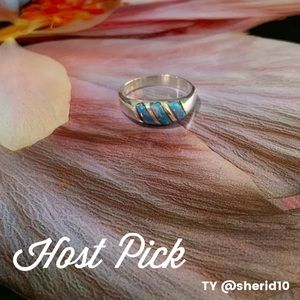 Mexico Sterling Silver Fire Opal Ring